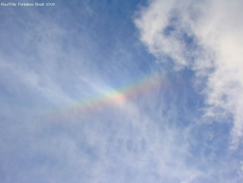 High clouds showing iridescence