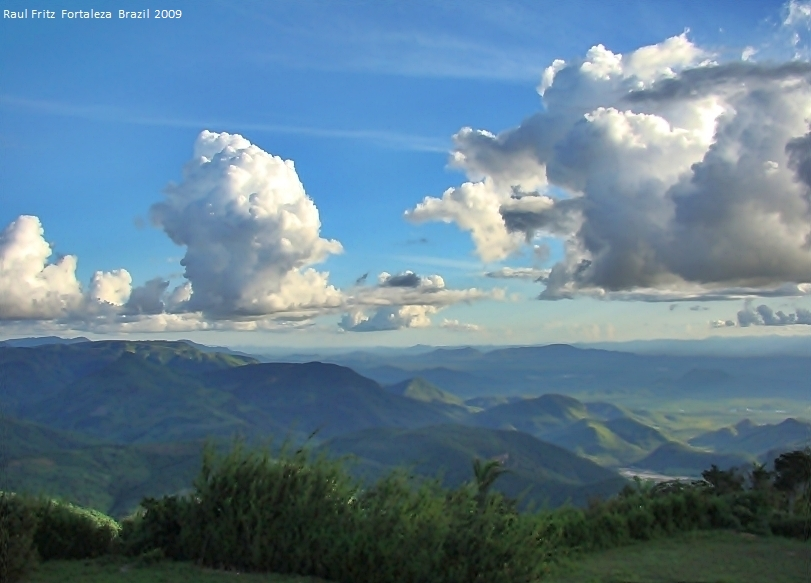 Cumulus over the green mountains