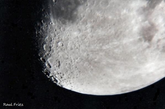 Close up of the south of the Moon