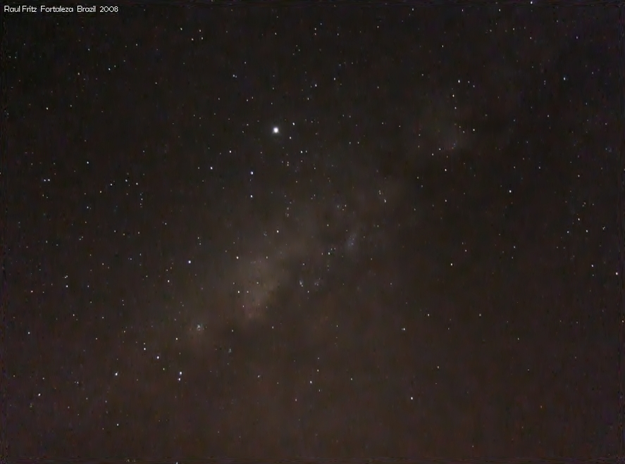 Jupiter near the Milky Way