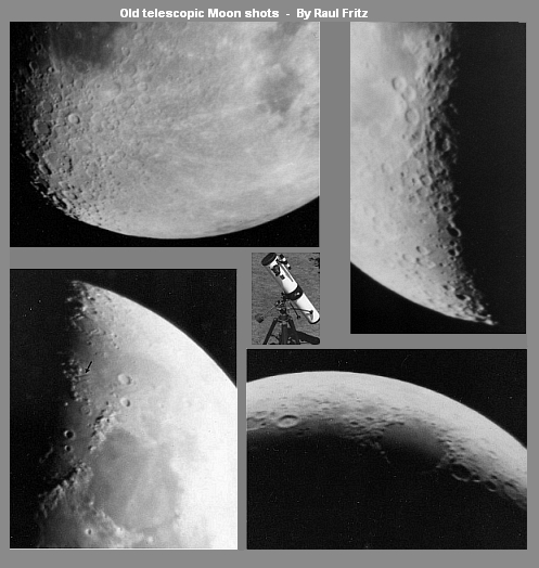 My telescopic shots of the Moon