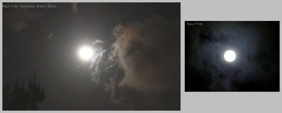 Remarkable conjunction of full Moon and Jupiter on November 28, 2012