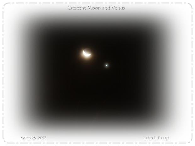 Moon and Venus appear together in the western sky